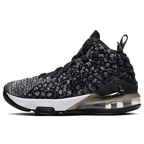 Nike Youth Lebron 17 (Gs) Black/White Bq5594 002 - Size 7