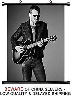 Eric Church Country Music Star Fabric Wall Scroll Poster (32 x 38) Inches