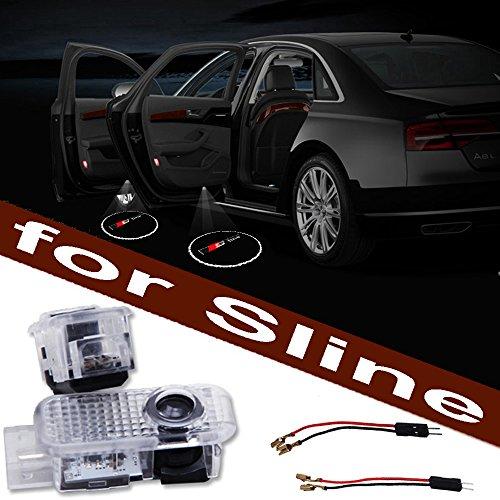 1Paar LED für Autotür, Beleuchtung, Logo, Markierung, Projektion, Sichtbarkeit, untere Türkante, beleuchtete Kante