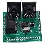 MIDIシールドブレイクアウトボード、Arduino UNO R3 AVI PICデジタルインターフェースアダプター用の拡張2.54mmピンヘッダー付きMIDIモジュールへの3つの直角メスMIDIコネクターシリアル