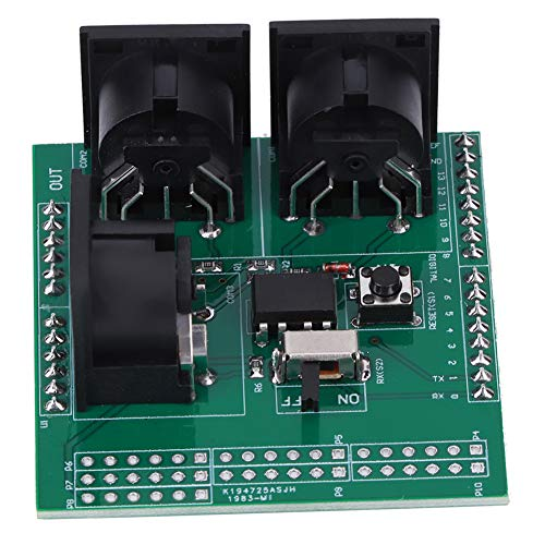 MIDI Shield Breakout Board, 3 rechtwinklige MIDI-Buchse seriell zum MIDI-Modul mit 2,54-mm-Pin-Headern für Arduino UNO R3 AVI PIC Digital Interface Adapter