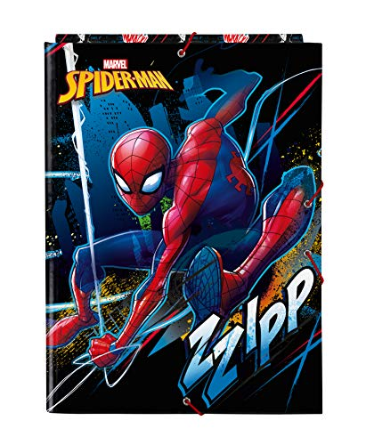 safta Carpeta Folio con 3 Solapas de SpiderMan Go Hero, 260x365mm