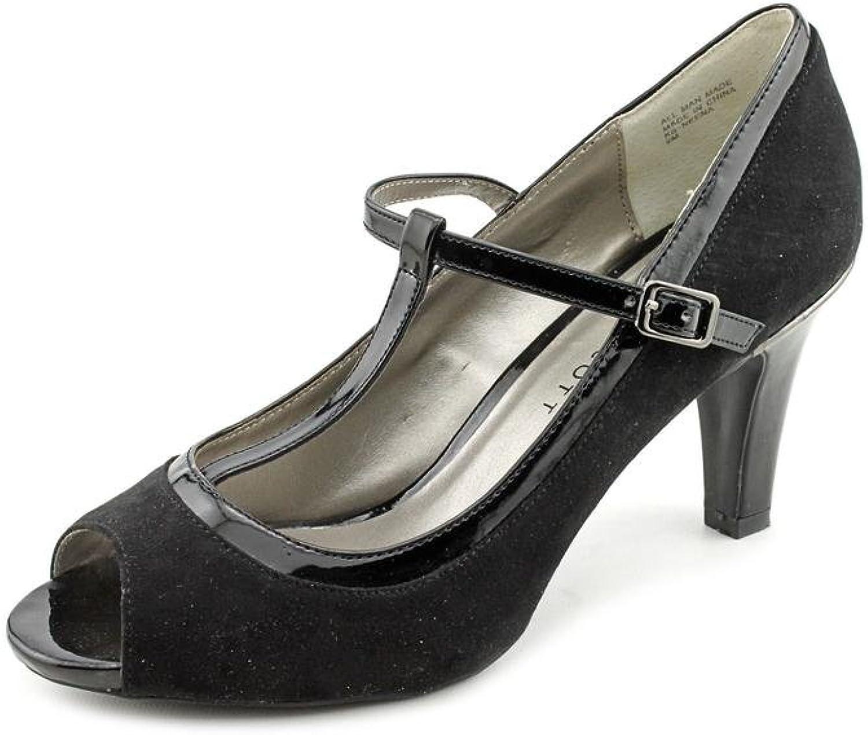 Karen Scott Neena Womens US Size 11 Black Peep Toe Faux Suede Pumps Heels shoes