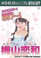 【梅山恋和 NMB48 チームN研究生】 AKB48 願いごとの持ち腐れ 劇場盤 特典 49thシングル 選抜総選挙 ポスター風 生写真