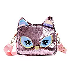 Unicorn Pink-2 Sequins Crossbody Shoulder Bag