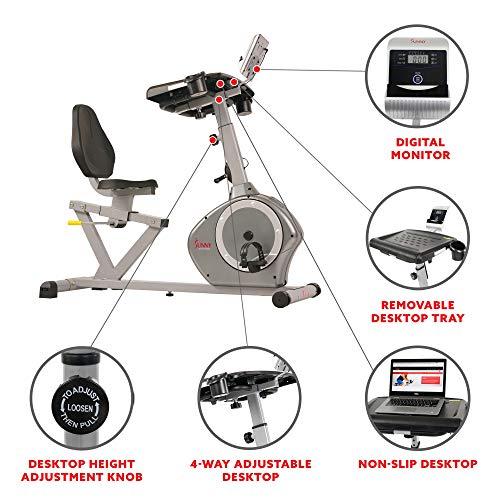 Sunny Health & Fitness Desk Exercise Bike SF-RBD4703