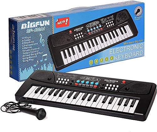 TUMTUM 37 Key Board Piano Keyboard Toy for Kids with Microphone Dc Power Option Recording Charger not Included Best Birthday Gift for Boys and Girls.