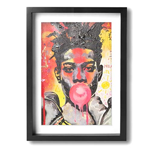 PKLUAS Jean-Michel Basquiat Wall Art Decor Poster Artworks Paintings Landscape Canvas Prints None Frame for Home Decorations Wall Decor 12x16Inch Einheitsgröße schwarz