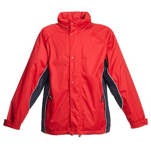 BMS Regenjacke Comfort Sport, Rot + Marine, Größe L