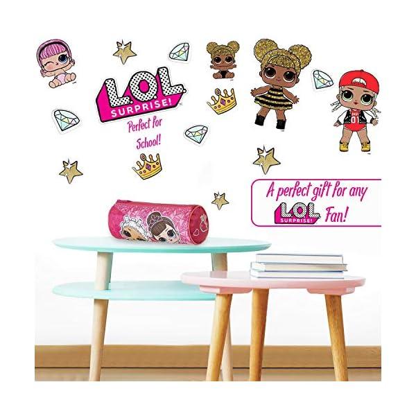 L.O.L. Surprise ! Estuches Escolares Para Niñas Con las Muñecas Lol Fancy y Fresh, Material Escolar Para Niños, Estuche En Color Rosa Para Colegio, Regalos Lol Surprise Para Niñas
