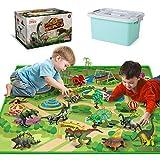 Dinosaur Toys with Dinosaur Figures, Activity Play Mat & Trees for Creating a...