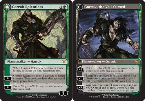 Magic: the Gathering - Garruk Relentless // Garruk, The Veil-Cursed - Innistrad