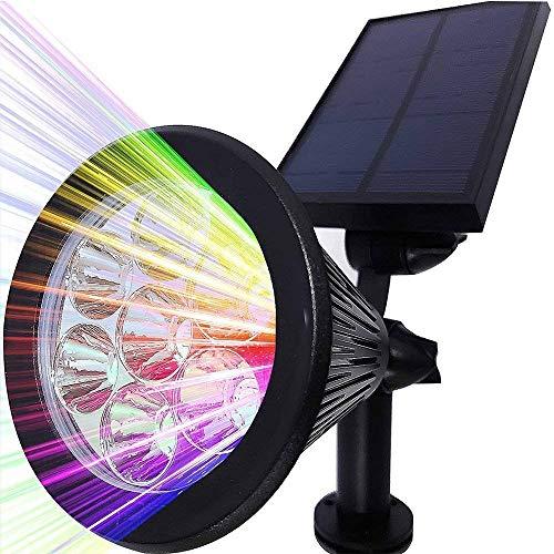 Solar Strahler, LEDNut 7 LED 320 Lumen 7 Farben Solarbetriebene Scheinwerfer 2-in-1 Verstellbare Gartenleuchten Solarleuchte Landscape Beleuchtung Outdoor Spotlight