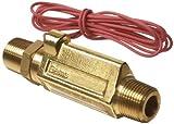 Gems Sensors FS-380 Series Brass High Pressure Flow Switch, Inline, Piston Type, 2 gpm Flo...