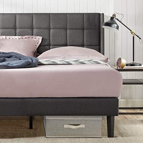 Best Zinus Ruthann Upholstered Storage Platform Bed