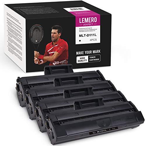 LEMERO UEXPECT MLT-D111L - Tóner compatible con Samsung MLTD111L para Samsung Xpress M2020 M2020W M2022 M2022W M2026 M2026W SL-M2070 M2070W M2070F M2070FW (4 negros)