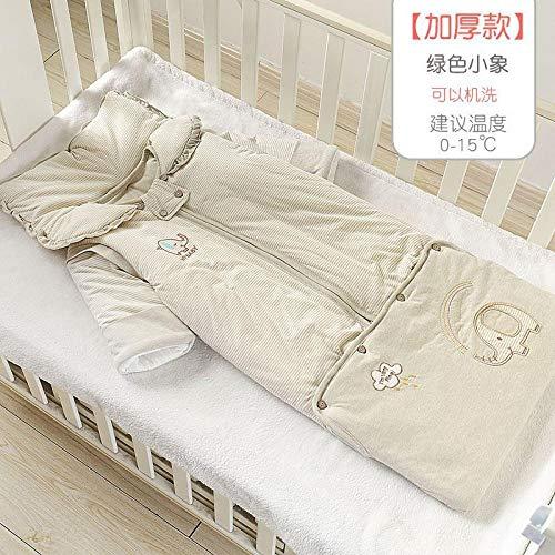 Deken katoenen slaapzak, herfst- en winterbaby anti-kick-quilts, baby-quilts-white_130 yards 1-5 jaar, voor 0-12 maanden baby