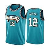 JJIU Men's Basketball Uniforms,Suitable for Grizzlies No. 12 Morant Uniforms, Retro Basketball Jerseys,...