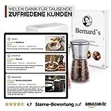 Bernard's® Salz und Pfeffer Mühle (2er Set) mit verstellbarem Keramikmahlwerk I Stilvolle Gewürzmühle & Chilimühle inkl. Gourmet-Kochbuch - 5