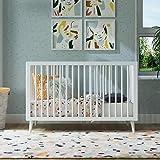 Novogratz Harper 3-in-1 Convertible Baby Crib, White