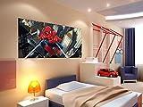 AG Design FTDh 0632  Spider-Man Marvel, Papier Fototapete Kinderzimmer - 202x90 cm - 1 Teil, Papier, multicolor, 0,1 x 202 x 90 cm