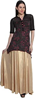 SriSaras Shimar Golden Skirt