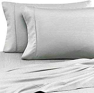 Eucalyptus Origins ™ Tencel Lyocell King Sheet Set in Mint Green Stripe