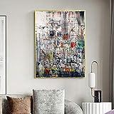 JEfunv Gerhard Richter Modern Artwork Poster Rot Grün
