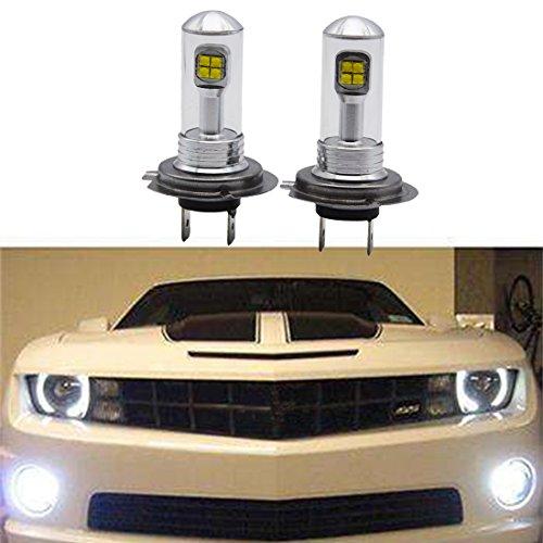 Lot de 2 Ampoules LED Canbus Blanche Anti-brouillard Haute Puissance 6000K 80W