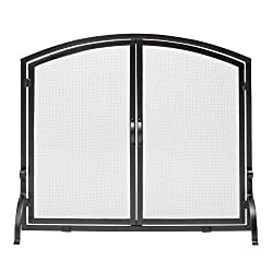 professional Medium black wrought iron screen with uniframe, S-1062, plates and doors