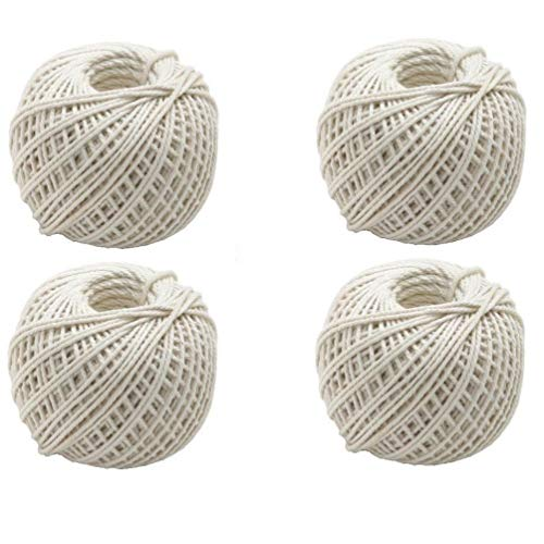 Zonfer 1pc Cooking Butcher Cotton Twine White Crafts Bakers Twine Natural Cotton Twine Food Safe Kitchen Cooking Trussing Tying Poultry/Meat Making Sausage Twine