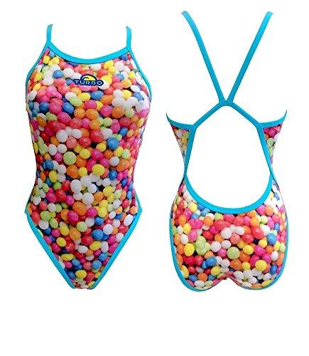 TurboTronic Gominoles Gummy Bragas de Bikini, Azul Claro, XL para Mujer