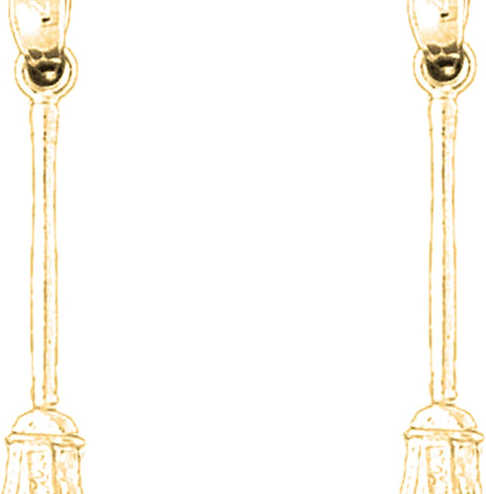 El Paso Mall Jewels Obsession Around the House 3D 14K Yellow Earrings Gold Bargain sale