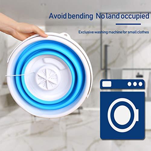 Lavadora plegable con cubo plegable, mini turbo lavadora, para ropa interior de dormitorio, alimentado por USB