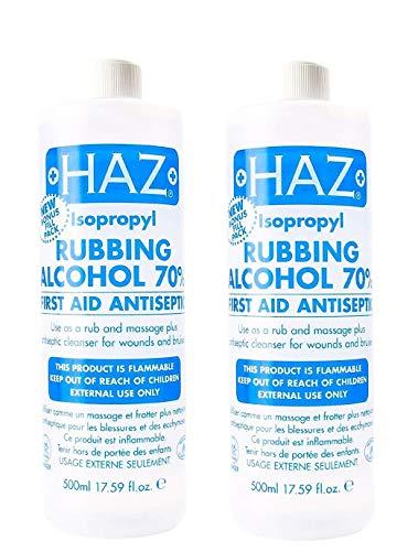 Haz 500 ml Isopropyl-Reibealkohol Erste Hilfe Antiseptikum – 2 Stück
