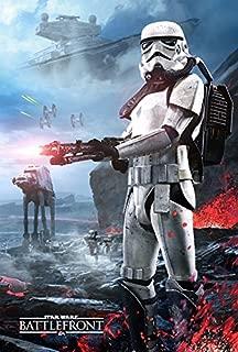 Star Wars Battlefront Stormtrooper Gamestop PreOrder Poster Double Sided