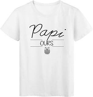 0482d7fbd0d14 T-Shirt imprimé humour design Papi Ours réf 2194