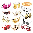 TD.IVES Funny Glasses Party Sunglasses Costume Sunglasses,12 Pack Cool Shaped Funny Party Glasses