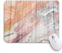 NIESIKKLAマウスパッド 抽象芸術オレンジピーチグレーと黄土色の絵画印刷 ゲーミング オフィス最適 おしゃれ 防水 耐久性が良い 滑り止めゴム底 ゲーミングなど適用 用ノートブックコンピュータマウスマット