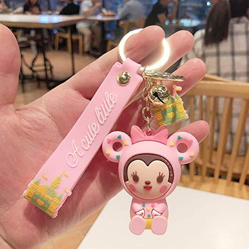 Ozsjrq Llavero Colgante para niñas y niñas, Llavero de Silicona de Dibujos Animados, Linda muñeca, Llavero de muñeca Regalo
