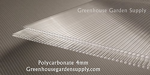POLICARB Polycarbonate Greenhouse Cover 4mm - Clear 24' x 72' (Pak of 10)