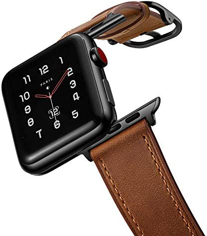 amBand Leather Band Compatible with Apple Watch Series 6 SE 42mm 44mm Genuine Leather Vintage product image