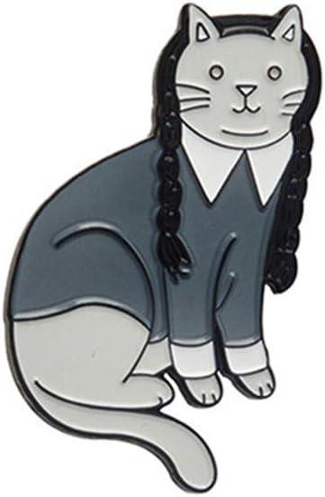 DONGMING Women Cartoon Brooch Enamel Kitten Cat Lapel Pin Decoration Jewelry for Birthday Party Gifts