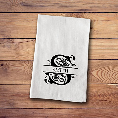 Tea Towels - Personalized - Filigree