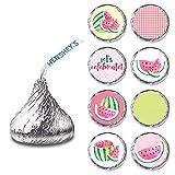 Adorebynat Party Decorations - EU Watermelon Etikette für Hershey S Küsse Pralinen - Sommer-Umschlag-Süßigkeit Aufkleber - Satz von 240