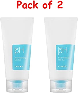 (Pack of 2) COSRX Low pH First Cleansing Milk Gel with KAI Eyebrow Razor