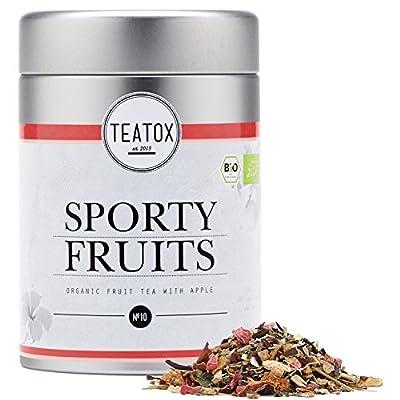 TEATOX Sporty Fruits, Infusion fruit bio avec pomme et hibiscus