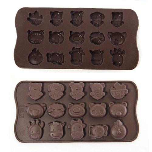 Stampo di Silicone per Animali di Cioccolato Sapone e Dolcetti