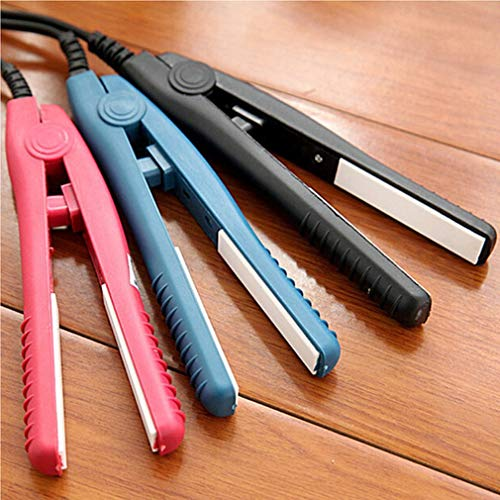UJKIO Professional Mini Portable Travel Ceramic Flat Iron Hair Straightener Splint