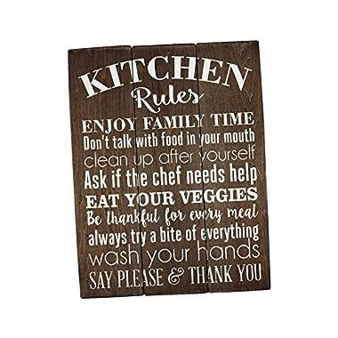 Sincerely Sunshine Kitchen Rules Sign Kitchen Wall Decor Rustic Kitchen Sign Farmhouse Decor Kitchen Wall Art